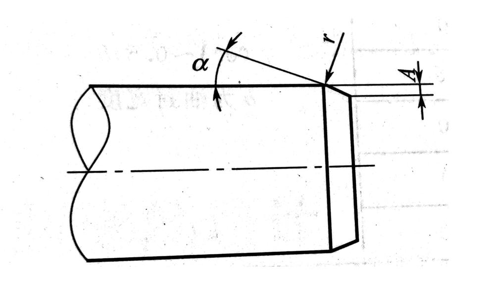 骨架油封安装轴的倒角示意图
